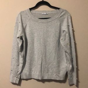 DEX Faux Pearl Sweater